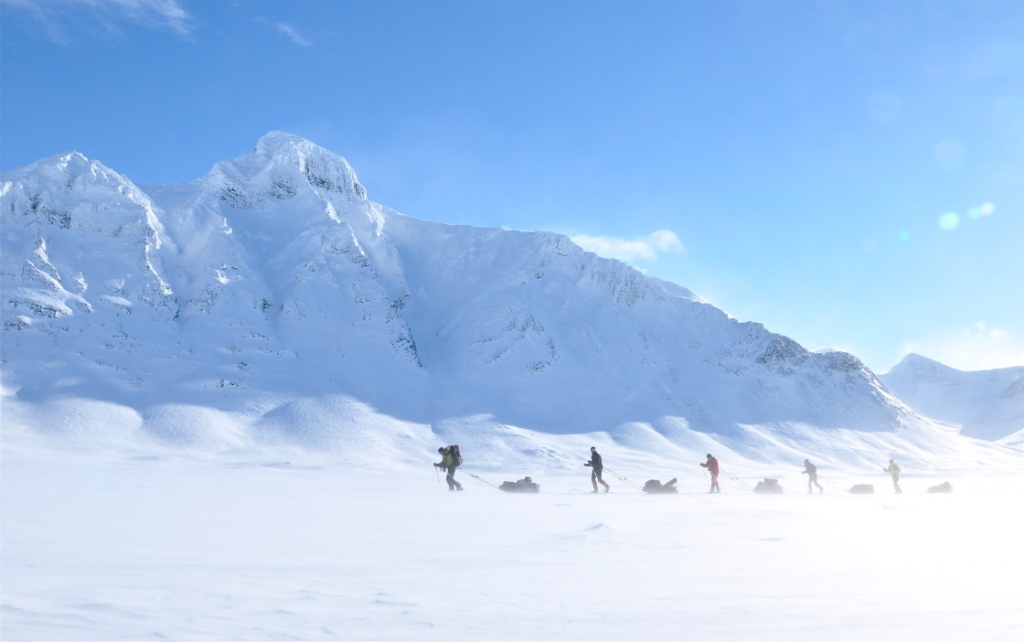 Ski expedition in sarek