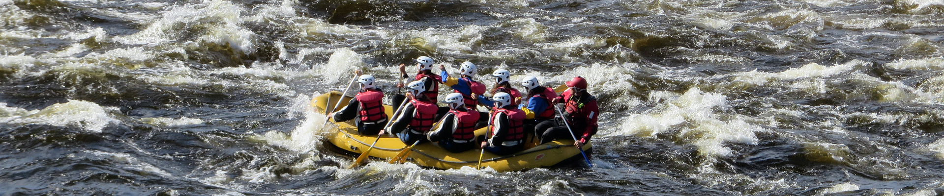 Rafting in Kalix River Swedish Lapland