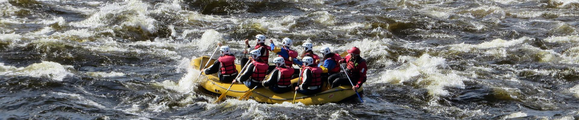 Rafting in Kalix River Swedish Lapland