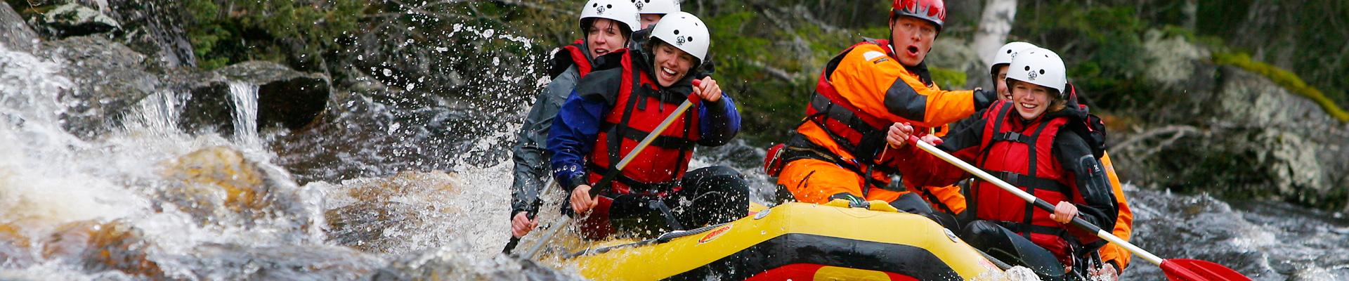 Rafting in Swedish Lapland